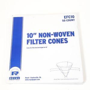 """Royal Premium 10"""" Econoline Non Woven Filter Cones"""